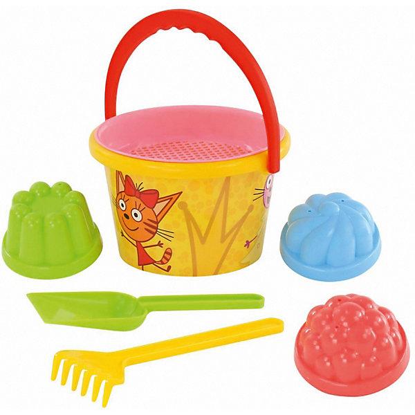 Полесье Песочный набор Полесье №3 «Три кота» полесье набор игрушек для песочницы 467 цвет в ассортименте