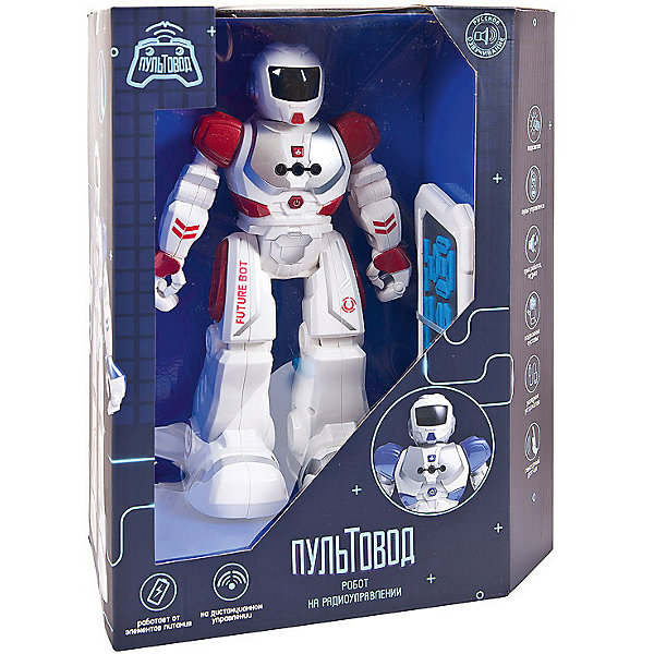 Купить Интерактивный робот Junfa Пультовод 32 см, бело-красный, Junfa Toys, Китай, синий/красный, Мужской