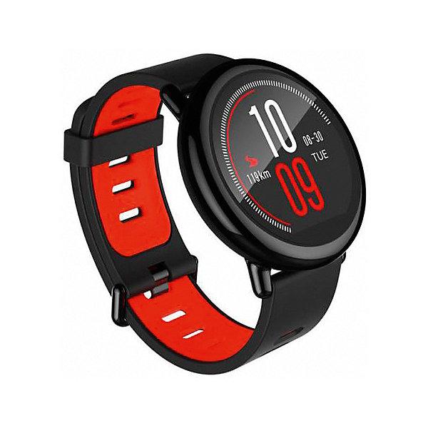 Часы Xiaomi Amazfit Pace, черныеУмные часы<br>Характеристика:<br><br>• материал: пластик, силикон<br>• сенсорный дисплей<br>• диагональ: 1,34 дюйма<br>• разрешение дисплея: 300х300 пикселей<br>• процессор: двухъядерный<br>• частота: 1,2 ГГц<br>• аккумулятор: 280 mAh<br>• оперативная память: 512 Мб<br>• встроенная память: 4 Гб<br>• поддержка: Wi-Fi<br>• поддержка: Bluetooth LE4.0 <br>• поддержка: GPS, ГЛОНАСС<br>• рейтинг IP 67<br>• страна бренда: Китай<br><br>Фитнес-часы — не просто устройство для показа времени, это современный гаджет, управлять которым совсем несложно с помощью сенсорного дисплея. Устройство легко синхронизируется со смартфоном. С помощью часов владелец может узнать какое расстояние он преодолел и каков его пульс, но, также, получить объемные данные о совершенной тренировке. Функции GPS и ГЛОНАСС помогут ориентироваться на местности и позволят увидеть пройденный маршрут. Устройство может уведомлять о входящих сообщениях, звонках, напоминать о событиях по календарю, а также выставлять будильник. Благодаря встроенной памяти владелец может использовать гаджет, как место для хранения информации, например, музыки для тренировок. Отличительной особенностью данной модели является ее водонепроницаемость.