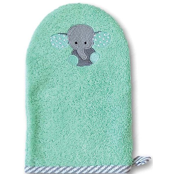 Рукавичка для купания Uviton Baby СлоникТовары для купания<br>Характеристики:<br><br>• материал: хлопок<br>• страна бренда: Россия<br><br>Рукавичка для купания изготовлена из натуральной и мягкой ткани, которая не вызывает аллергии. Удобная в использовании. Обеспечивает заботу и нежный уход за кожей малыша. Дополнена петелькой для подвешивания.
