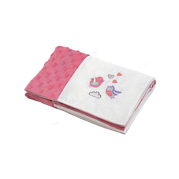 Купить Детский плед BabyOno patchwork Птички, Китай, розовый, Женский