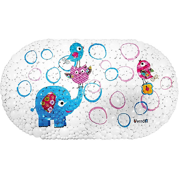 Купить Коврик для ванны Uviton Слоник, 69х39 см, Uviton Baby, Россия, белый, Унисекс