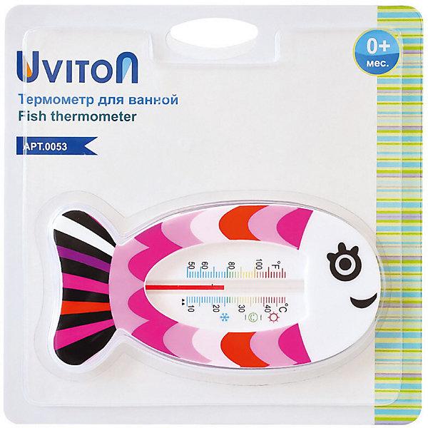 Купить Термометр для воды Uviton Китёнок, Uviton Baby, Таиланд, розовый, Унисекс