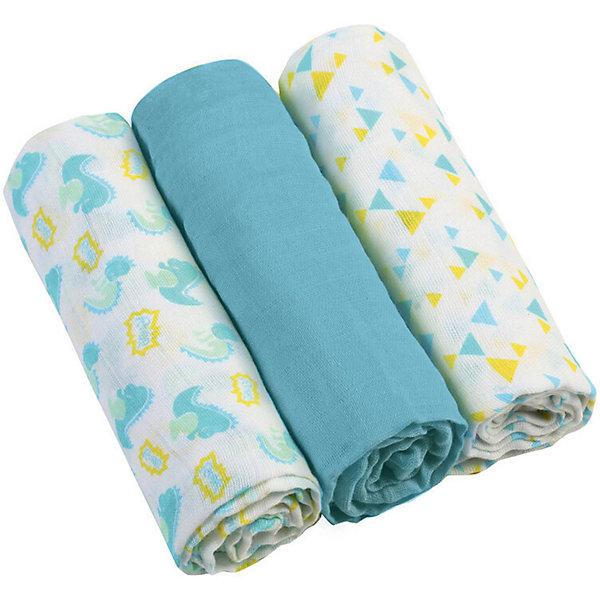 Купить Набор пеленок BabyOno, 3 штуки, Набор пеленок BabyOno голубой, Китай, Мужской