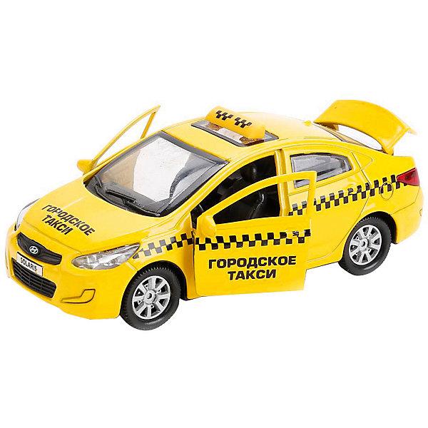 Картинка для Машинка Технопарк Hyundai Solaris Такси, 12 см