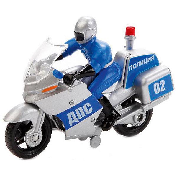 Мотоцикл Технопарк с фигуркой, 10 см