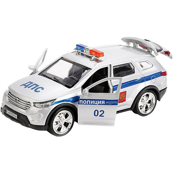 ТЕХНОПАРК Машинка Технопарк Hyundai Santafe Полиция, 12 см