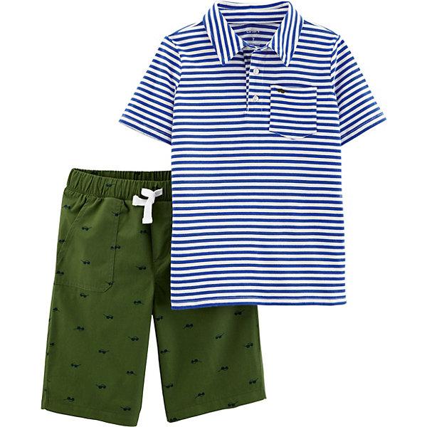 Купить Комплект: футболка и шорты carter's для мальчика, carter`s, Вьетнам, синий, 116/122, 122/128, 128/134, 110/116, Мужской