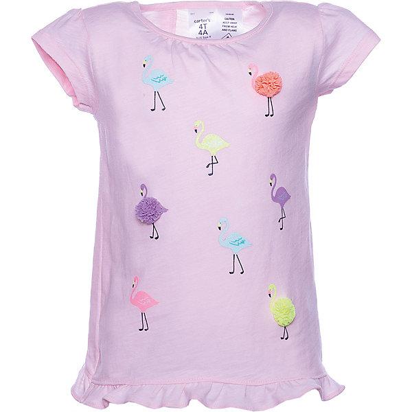 carter`s Футболка carter's для девочки футболка с коротким рукавом для девочки barkito база