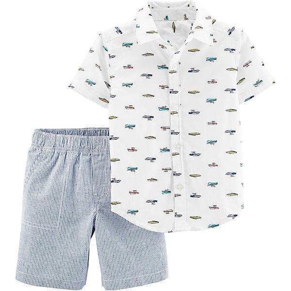 Комплект: рубашка и шорты carter's для мальчика Carter`s