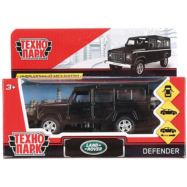 Инерционная машина Технопарк Land Rover Defender, черный серебрянного цвета