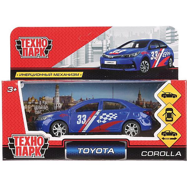 Инерционная машина Технопарк Toyota Corolla, СпортГоночные машинки и мотоциклы<br>Характеристики:<br><br>? материал: пластмасса, металл<br>? длина: 12 см<br>? упаковка: коробка с окном<br><br>Коллекционная модель Toyota Corolla «Спорт» выполнена в реалистичном дизайне с детально проработанными аэрографией в гоночном стиле, зеркалами и номерными знаками. Она оснащена надежной колесной базой и инерционным механизмом: если потянуть машину на себя и отпустить, то она сразу же поедет вперед. Передние двери и багажник открываются и закрываются. Игрушка пригодится в сюжетно-ролевых играх, поможет в проигрывании различных жизненных сценариев, в развитии воображения, координации, ловкости и речи.
