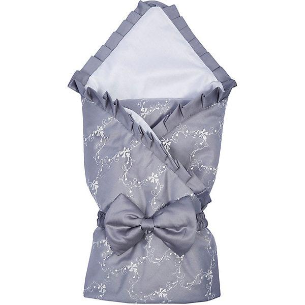 Одеяло на выписку Эдельвейс Беллиссимо, 95х95 см, сероеДетские конверты<br>Характеристики:<br><br>• тип ткани: сатин, фатин<br>• размер товара: 95х95 см<br>• страна бренда: Россия<br><br>Одеяло сворачивается в конверт, фиксируется бантом на резинке. Края оформлены оборками, на фатине есть вышивка. Изделие качественно и аккуратно прошито. Ткань полностью безопасна для малыша, не вызывает аллергии, пропускает воздух и приятна на ощупь.