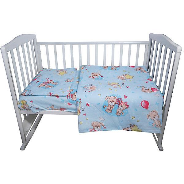 Эдельвейс Постельное белье Малышок, 3 предмета, голубое