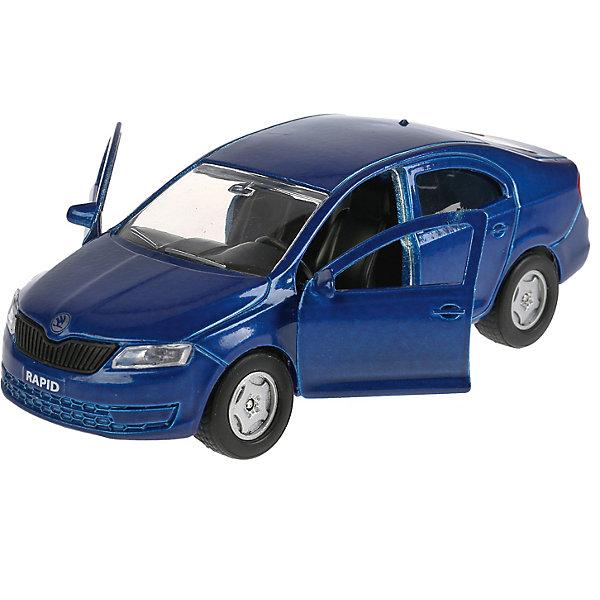 Машина Технопарк Skoda RapidКоллекционные машинки<br>Характеристики:<br><br>• тип товара: машинка<br>• материал: металл, пластик<br>• длина: 12 см<br>• страна бренда: Россия<br><br>Машинка сделана максимально реалистичной. У нее инерционный механизм и открывающиеся части – багажник, двери. Модель очень похожа на настоящую, внутри проработана каждая деталь. Машину небольшого размера удобно брать с собой. Игры с транспортом позволяют развить моторику, фантазию, координацию движений. Ребенок познакомится с моделями автомобилей.