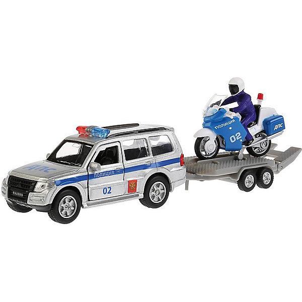 Купить Машина Технопарк Mitsubishi Pajero Полиция, ТЕХНОПАРК, Китай, Мужской