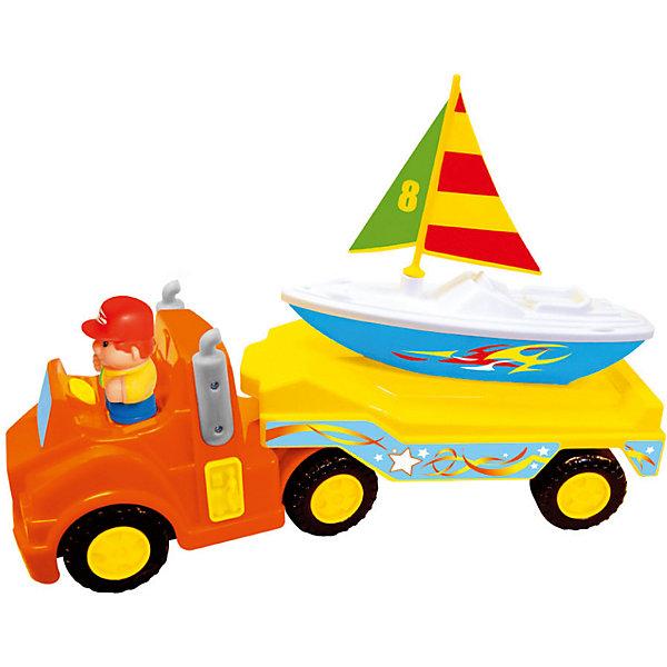 Kiddieland Развивающая игрушка Kiddieland Трейлер с яхтой игрушка
