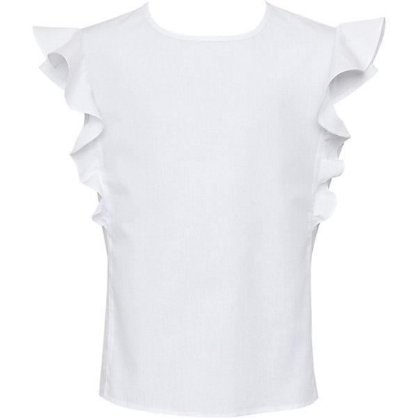 Купить Блузка SLY для девочки, Польша, белый, 134, 140, 164, 158, 146, 152, Женский