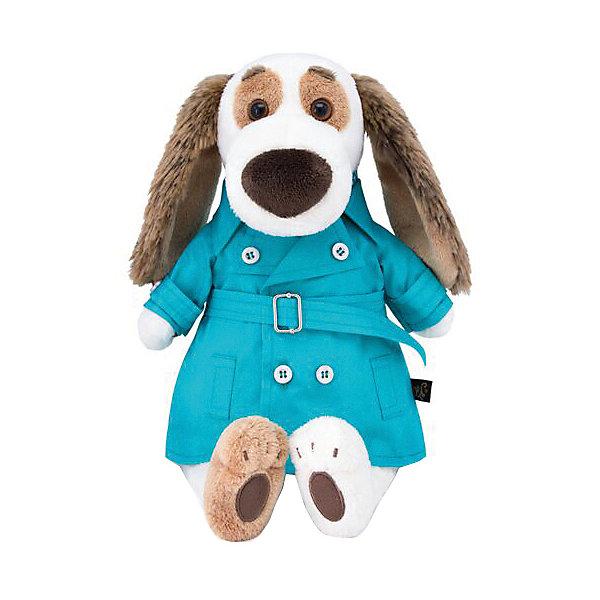 Мягкая игрушка Budi Basa Собака Бартоломей в плаще, 27 смМягкие игрушки-собаки<br>Характеристики:<br><br>• серия: БасикCo<br>• размер игрушки: 27 см<br>• материал: искусственный мех, текстиль, пластик<br>• набивка: полимерное волокно, полиэтиленовые гранулы<br>• тип упаковки: картонная коробка<br>• страна бренда: Россия<br><br>Симпатичная собачка порадует своим оригинальным видом и качеством исполнения. Ее удобно держать в руках, весело играть, а также приятно спать с ней. <br><br>Игрушка выполнена из искусственного меха, комбинированная набивка хорошо держит форму. Одежда снимается, фурнитура надежно закреплена на изделии. Упакована в фирменную коробку открытого типа.