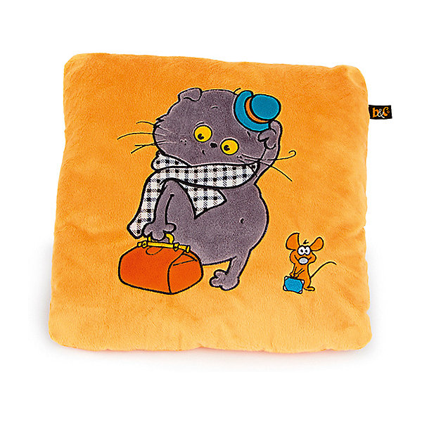 Купить Декоративная подушка Budi Basa Басик-путешественник, Россия, желтый, Унисекс