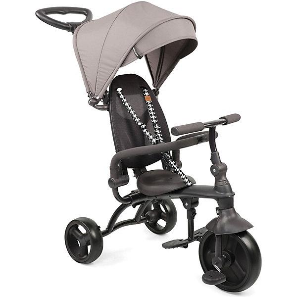 Трёхколёсный велосипед Happy Baby Mercury, бежевыйВелосипеды<br>Характеристики:<br><br>• материал: полипропилен, полиамид, сталь, полиуретан, этиленвинилацетат, вспененная резина, полиэстер<br>• вес транспортного средства: 7,2 кг<br>• размер в собранном виде: 97*47,5*100 см<br>• диаметр переднего колеса: 23 см<br>• диаметр задних колёс: 17,5 см<br>• высота сиденья: 32 см<br>• высота руля: 58 см<br>• для ребенка ростом: 80-100 см<br>• для ребенка весом: до 20 кг<br><br>Велосипед выполнен в современном дизайне. Он сконструирован с учетом правил безопасности: скругленные формы, есть регулируемая по высоте ручка-толкатель для передвижения, задний стояночный тормоз и защитный бортик. Педали отключаются для «холостого» хода. Подножка и страховка убираются, когда ребенок научится передвигаться самостоятельно. Навес откидывается, а колёса сделаны без зазоров для улучшенных ходовых качеств. Прочная рама легко складывается, благодаря чему транспортное средство удобно переносить за ручку и компактно хранить.