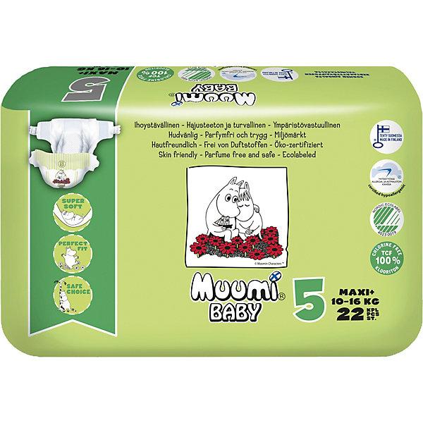 Muumi Подгузники Maxi Plus 10-16 кг, 22 штуки