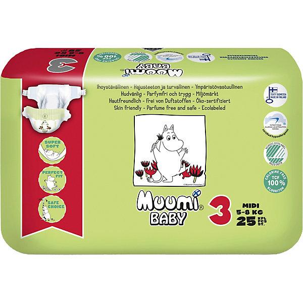 цена на Muumi Подгузники Muumi Midi 5-8 кг, 25 штук