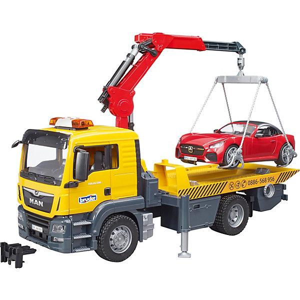 Bruder Игровой набор Bruder Самосвал Mercedes-Benz с мини-погрузчиком, 1:16 игрушка bruder mercedes benz самосвал 03 623