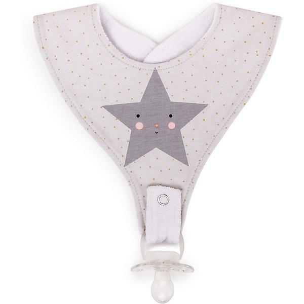 Нагрудный фартук  Happy Baby Star, с креплением для пустышки