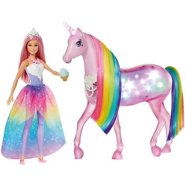 Mattel Игровой набор Barbie Dreamtopia Кукла и Радужный единорог
