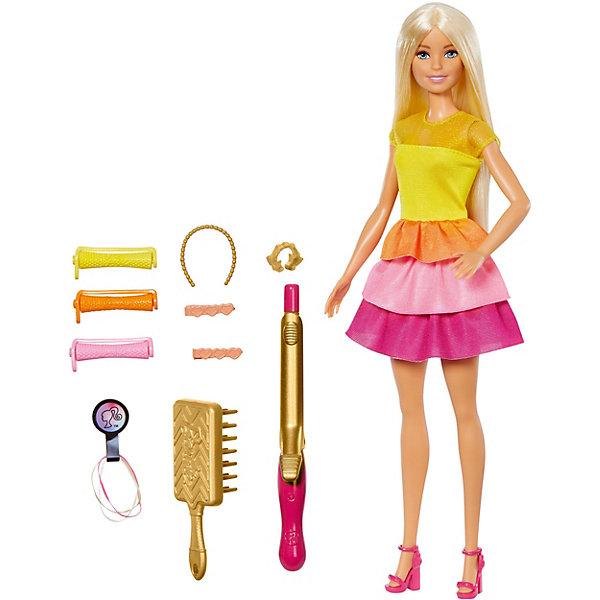Купить Игровой набор Barbie Роскошные локоны Кукла в модном наряде с аксессуарами для волос, Mattel, Китай, Женский