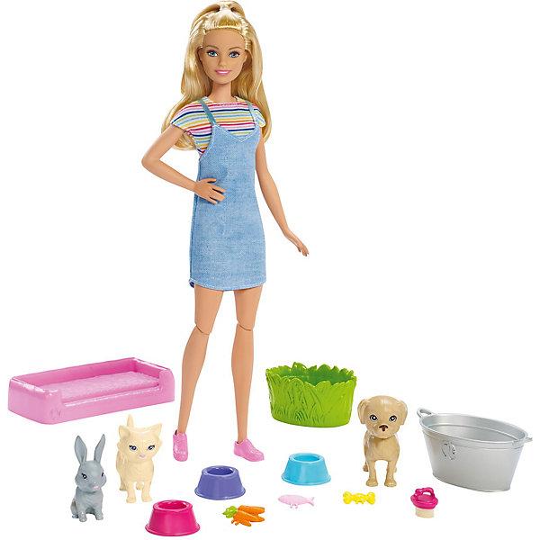 Mattel Игровой набор Barbie Кукла и домашние питомцы