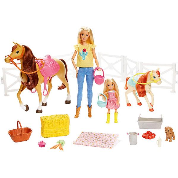 Купить Игровой набор Barbie Куклы с лошадьми и аксессуарами, Mattel, Индонезия, Женский