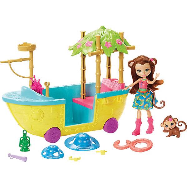 Купить Игровой набор Enchantimals Мерит Мартыша и джунгли-лодка, Mattel, Китай, Женский
