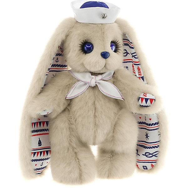 Мягкая игрушка Piglette Бонни, 35 смМягкие игрушки зайцы и кролики<br>Характеристики товара:<br><br>• материал: мех, пластик, текстиль<br>• авторская ручная работа<br>• отделка эксклюзивными тканями<br>• милейшие глазки с пушистыми ресничками<br>• мех – имитация норки, не скатывается<br>• высококачественный наполнитель с эффектом анти-стресс<br>• полностью подвижна<br>• легко чистить влажной салфеткой<br>• страна бренда: Россия<br><br>Зайка Бонни с красивыми очаровательными глазками, которые обрамлены пушистыми ресницами. Ушки и лапки на внутренней части украшены морским орнаментом. На шее повязан воротничок с контрастными строчками, а на голове надета шляпа юнги с кокардой в виде якоря.<br><br>Зайчик упакован в яркую коробку, цвет которой можно узнать только при покупке.