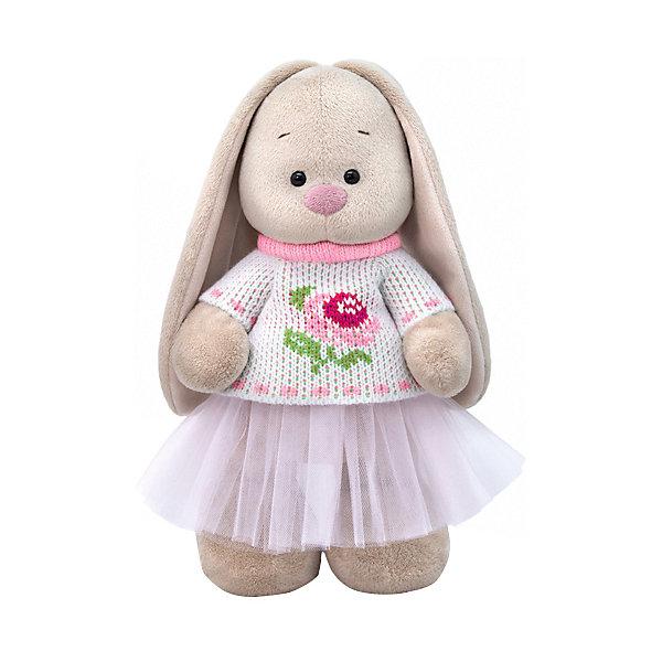 Budi Basa Мягкая игрушка Зайка Ми в жаккардовом свитере и юбке, 32 см