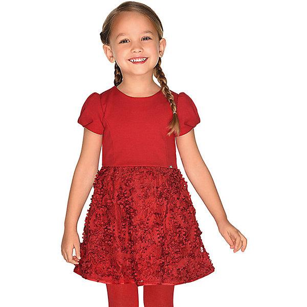 Купить Нарядное платье Mayoral, Китай, красный, 134, 92, 122, 98, 104, 110, 116, 128, Женский