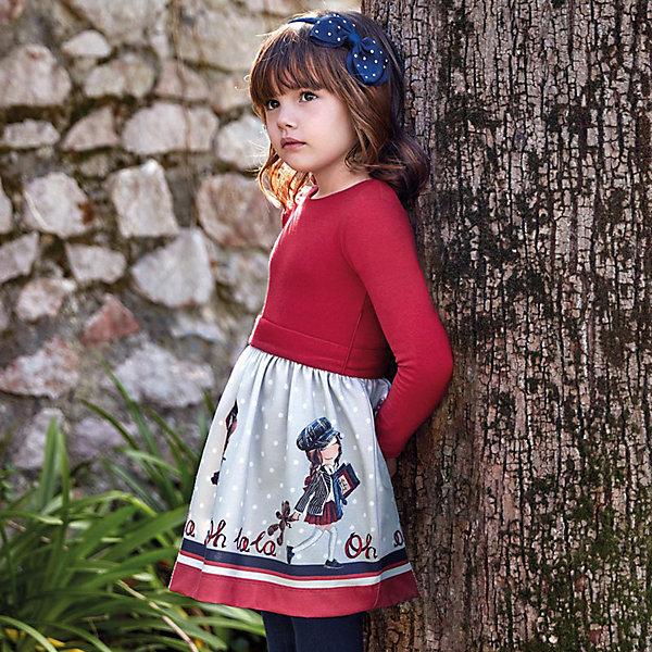 Платье Mayoral, Турция, красный, 104, 92, 116, 128, 110, 122, 134, 98, Женский  - купить со скидкой