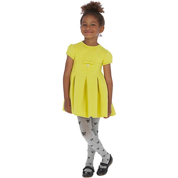 Купить Нарядное платье Mayoral, Китай, желтый, 104, 92, 116, 134, 110, 128, 98, 122, Женский