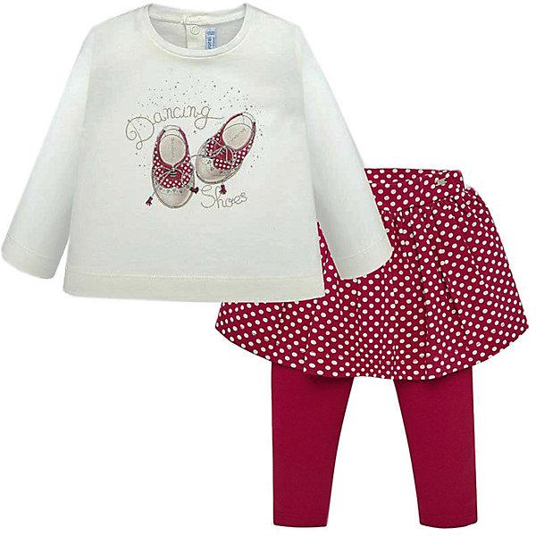 Комплект Mayoral: лонгслив и юбка-леггинсы