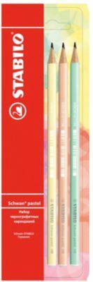 STABILO Набор чернографитных карандашей Stabilo Schwan Pastel, 3 шт