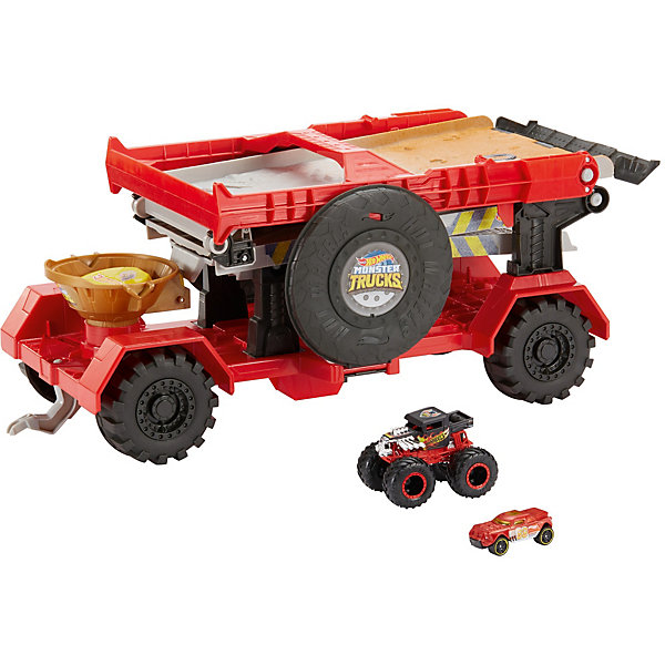Mattel Автотрек Hot Wheels Monster Trucks Передвижная трасса для гонок все цены