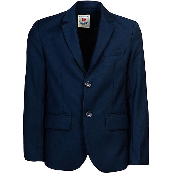 Купить Пиджак Button Blue, Китай, темно-синий, 164, 134, 170, 158, 140, 146, 122, 152, 128, Мужской