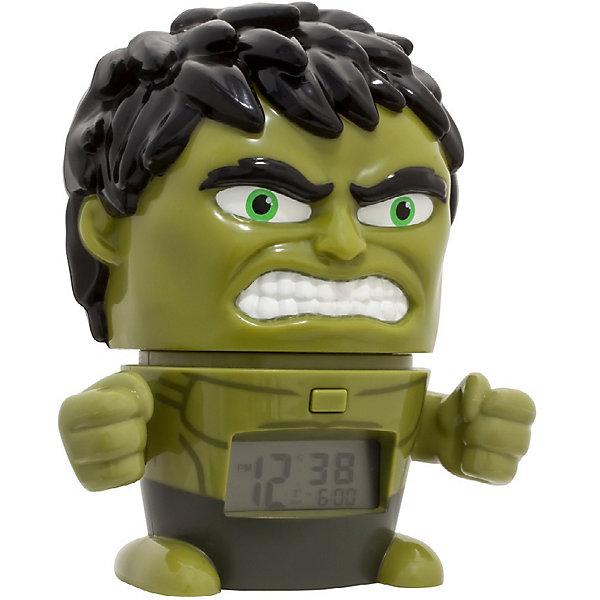 лучшая цена Детское время Будильник Kids Time BulbBotz Marvel «Халк» минифигура