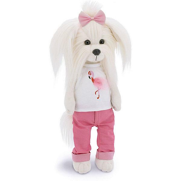 Orange Мягкая игрушка Lucky Doggy Собака Mimi: Цвет настроения Фламинго, 25 см