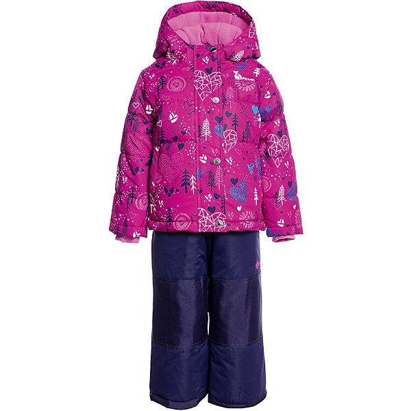 Купить Комплект: куртка и полукомбинезон Salve by Gusti, Китай, неоновый розовый, 89, Женский