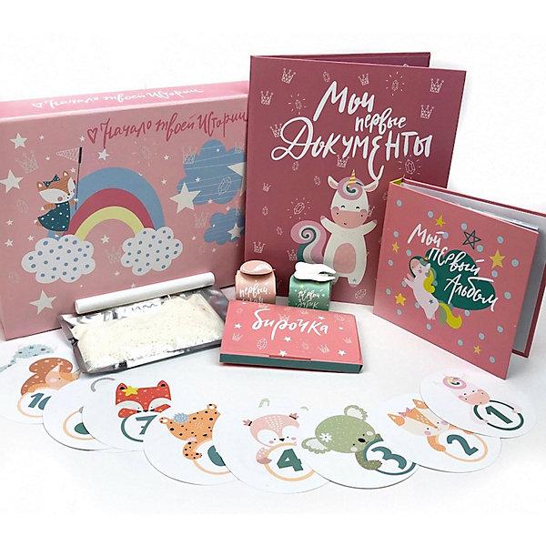 Фото - Happy Line Главный набор для новорожденной девочки боди для девочки мамуляндия зимние узоры цвет молочный 18 1206 размер 62