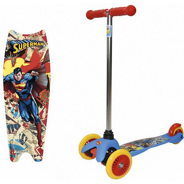 1Toy Трехколесный самокат Superman