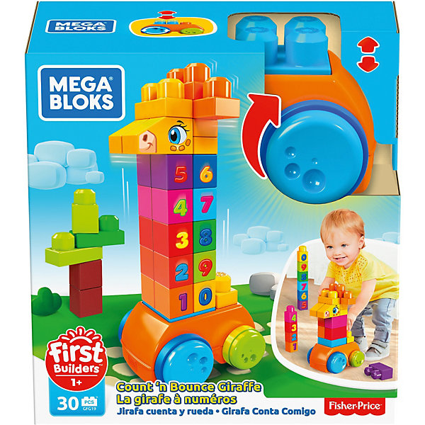 MEGA BLOKS Конструктор Mega Bloks First Builders Жираф 123