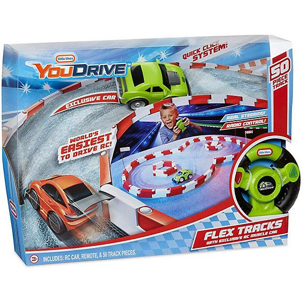 Little Tikes Набор You Drive Flex Гоночная полоса и зеленый спорткар
